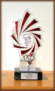 Pokal der Wedel Satellites für den dritten Platz bei der LM 2003