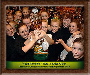 Das Meisterschaftsteam 2010 der Wedel Skylights