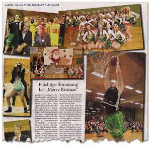 Artikel zum Merry-Ristmas-Event 2011 im Wedel-Schulauer Tageblatt vom 27.12.2011