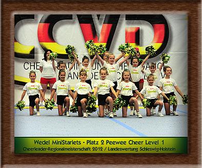 Das Meisterschaftsteam 2012 der Wedel MiniStarlets