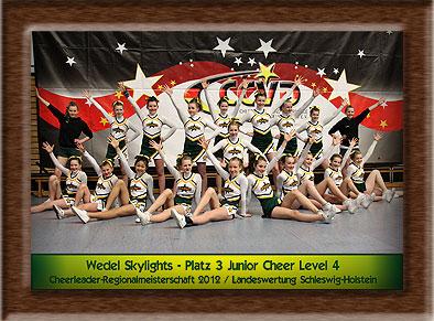 Das Meisterschaftsteam 2012 der Wedel Skylights