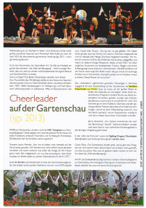 Bericht über den Auftritt der Wedel Satellites Cheerleader bei der Internationalen Gartenschau igs
