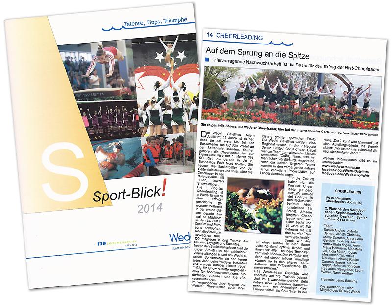 Pressebericht über die Wedel Satellites Cheerleader im Sport-Blick Wedel 2014