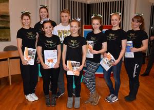 Sportlerehrung: Die Wedel Satellites wurden für ihren Vize-Regionalmeistertitel 2015 geeehrt.