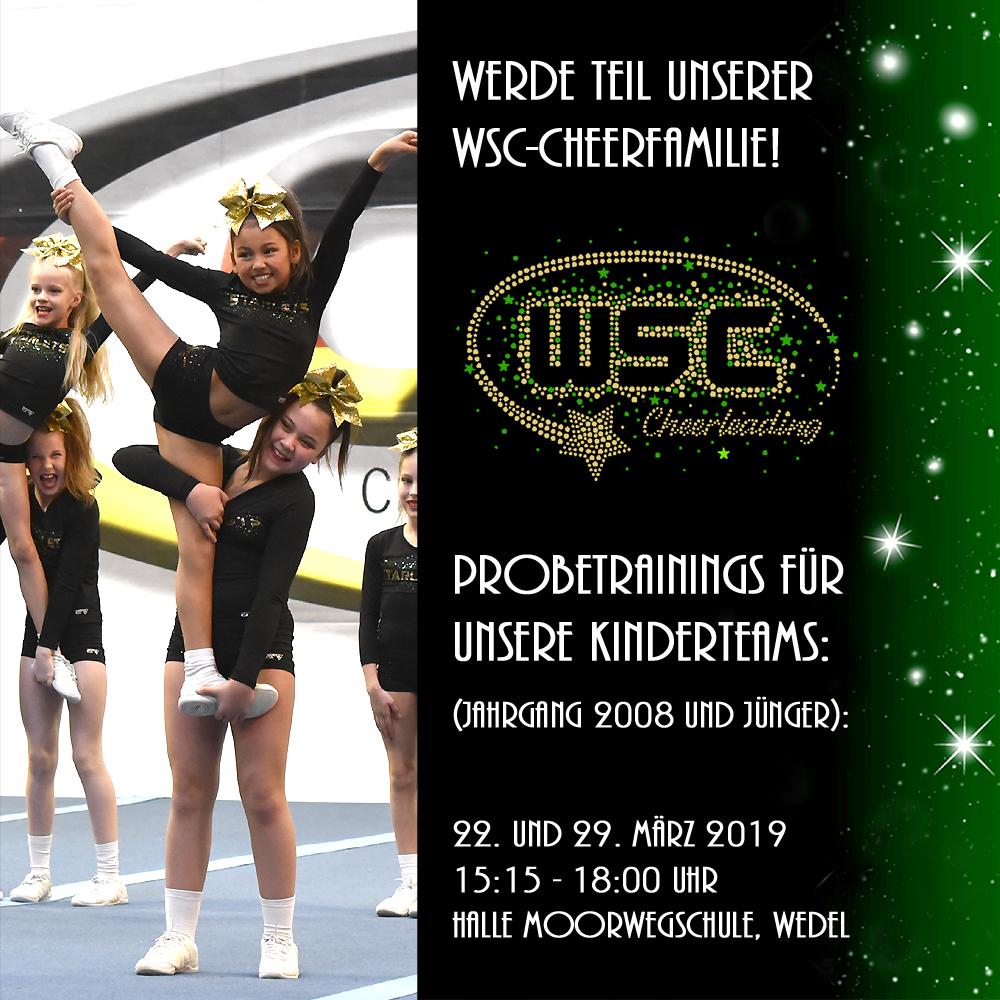 Probetrainings für unsere Kinderteams (Jahrgang 2008 und jünger): 22. und 29. März 2019 15:15 - 18:00 Uhr Moorweghalle, Wedel