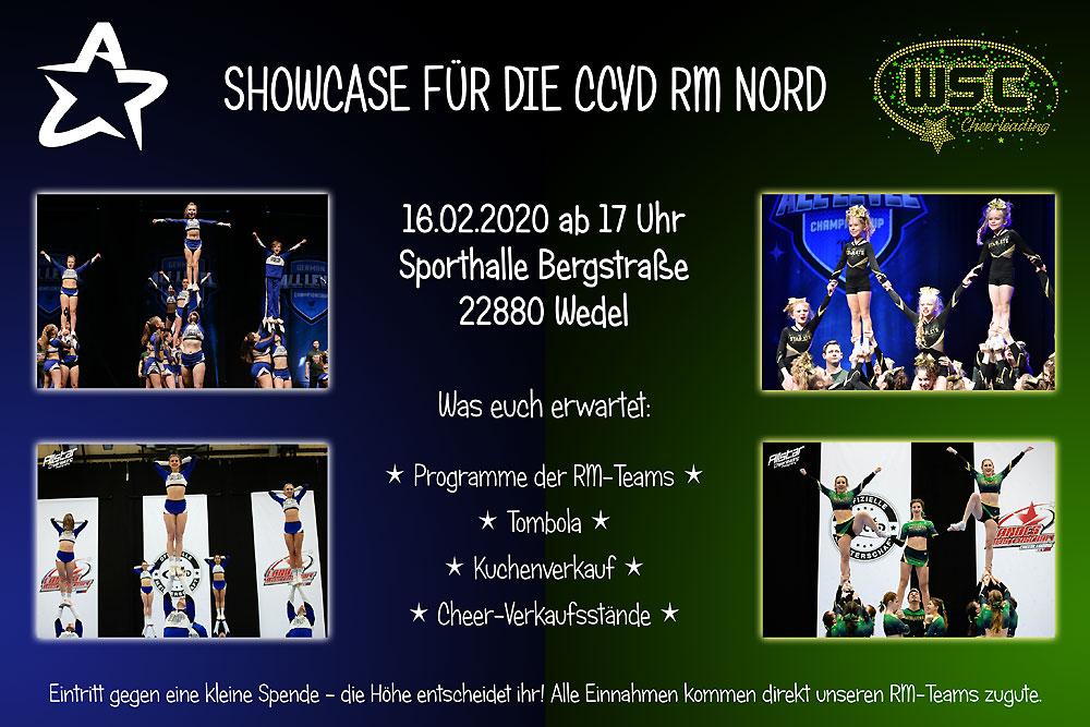 Einladung zum RM-Showcase der ACP- und WSC-Cheerleader am 16.02.2020