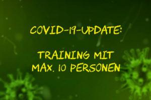 Covid-19: Training mit maximal 10 Personen