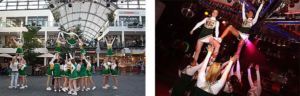 Impressionen von Auftritten der Cheerleader des SC Rist Wedel