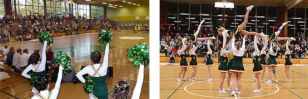 Impressionen von Basketballspielen in der Steinberghalle