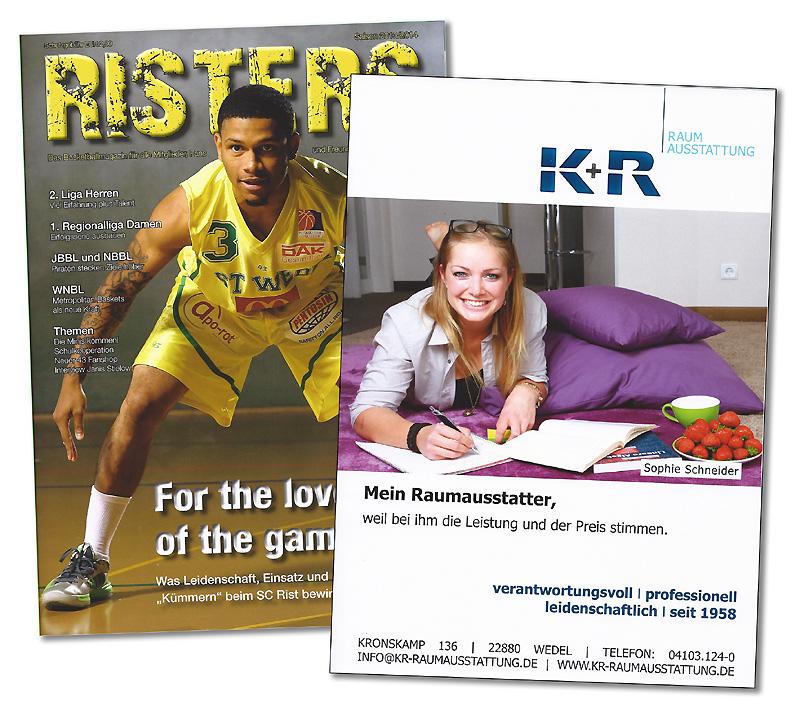 Anzeige aus dem Risters-Saisonmagazin 2013-2014
