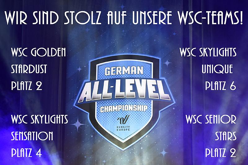Platzierungen der WSC-Teams auf der GALC Nord 2018