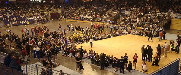Foto von einer Cheerleading-Meisterschaft